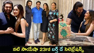 Actress Sayyesha Arya birthday celebrations pics, watch..