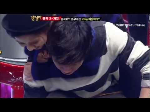 Eunhyuk tried carrying Song Jihyo @Strong heart