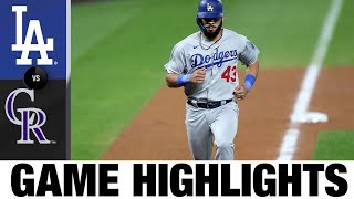 Dodgers score 6 in the 7th en route to 9-3 win | Dodgers-Rockies Game Highlights 9/17/20