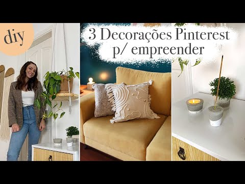 DIY 3 Decorações Pinterest Lindas  que vc pode fazer pra vender