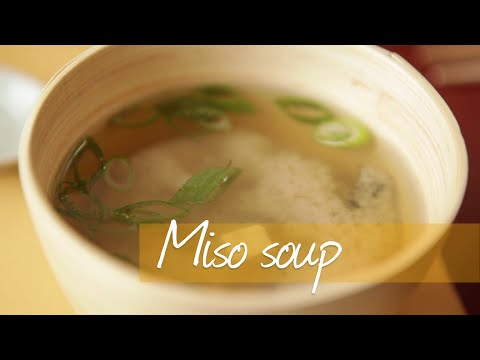 Miso soup - Homemade Japanese miso soup