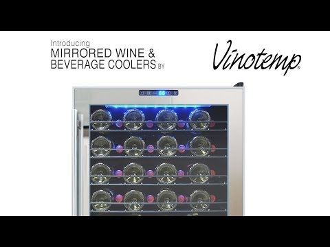 Vinotemp Mirrored Wine and Beverage Cooler Collection