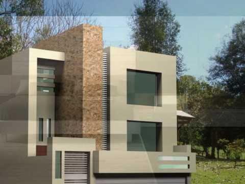 Planos de casas fachadas modernas y dise os de viviendas for Casa moderna minimalista 6 00 m x 12 50 m 220 m2