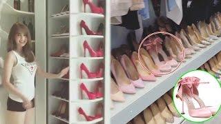 Vừa mua xe sang 12 tỷ đồng, Ngọc Trinh lại khoe tủ giày hàng hiệu xa xỉ   Tin Nhanh Nhất