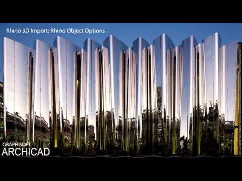 ARCHICAD 20 - Rhino 3D Import - Rhino Object Options
