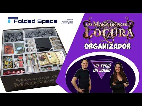Mansiones De La Locura | Organizador Inserto Folded Space | Juego de mesa
