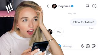 I SENT A DM TO 100 CELEBRITIES *they actually replied lol*