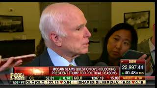 John McCain EXPLODES on FOX Reporter For Asking If His Votes Are Protest of Trump
