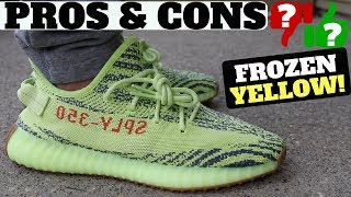 PROS & CONS - adidas YEEZY Boost 350 V2 'Semi Frozen Yellow' Review & On Feet