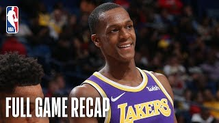 LAKERS vs PELICANS | Rajon Rondo Goes For A Season-High 24 Points  | March 31, 2019