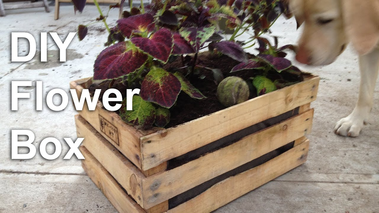 Diy Flower Box Garden Planter Gardenfork Tv Youtube