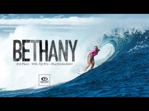 Bethany Hamilton - 3rd Place Finish   2016 WSL Fiji Pro
