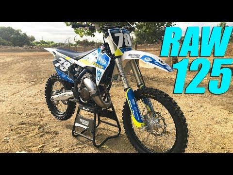 RAW 2 Stroke Husqvarna TC125 Pro Circuit Project - Motocross Action Magazine