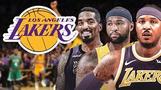 Lakers NEW ROSTER WITH NO KAWH! ADDING Carmelo Anthony,  Demarcus Cousins, & JR SMITH!