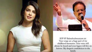Priyanka Chopra mourns the death of legendary singer SP Ba..