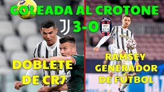 ¡DOBLETE DE CR7 EN GOLEADA DE LA JUVENTUS! (3-0 VS CROTONE) | GRAN VUELTA DE RAMSEY | CHIESA MÁQUINA