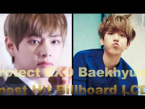 BTS V Protect EXO Baekhyun's Head That Almost Hit Billboard LCD in SMA