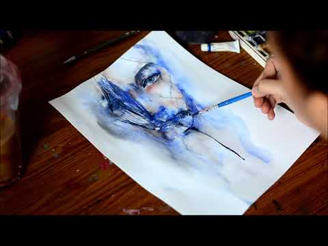 Speed Up Watercolor Painting - See You Soon