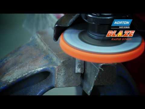Bearbetning av mjuka metaller med Norton Blaze Rapid Strip