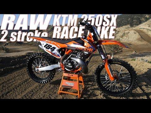 RAW KTM 250SX 2 Stroke Project Race Build - Motocross Action Magazine