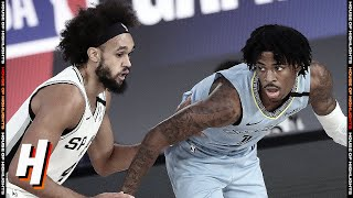 San Antonio Spurs vs Memphis Grizzlies - Full Game Highlights | August 2, 2020 | 2019-20 Season