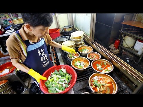 SUPER SPICY Hairtail Stew + STREET FOOD Tour of LARGEST Market in Seoul, South Korea - Namdaemun