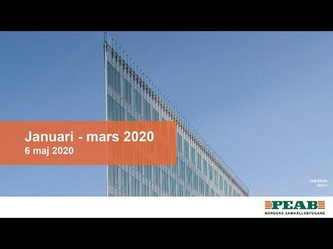 Peabs delårsrapport januari – mars 2020