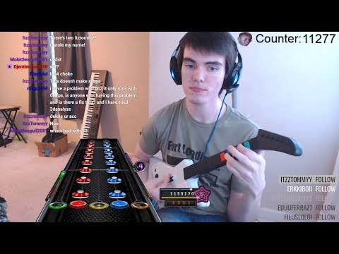 Pro Guitar Hero Player Makes Rookie Mistake