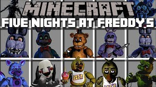 Minecraft FIVE NIGHTS AT FREDDY'S MOD / FIGHT AND SURVIVE 3AM AT NIGHT!! Minecraft