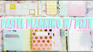 ♡ CUTE PASTEL PLANNING WITH PIXIE ♡