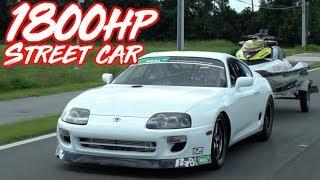 1800HP Street Supra Breaks 6's! - Fastest Street Driven Supra in the World!