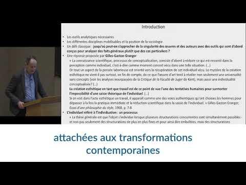 Vidéo de Pierre-Michel Menger