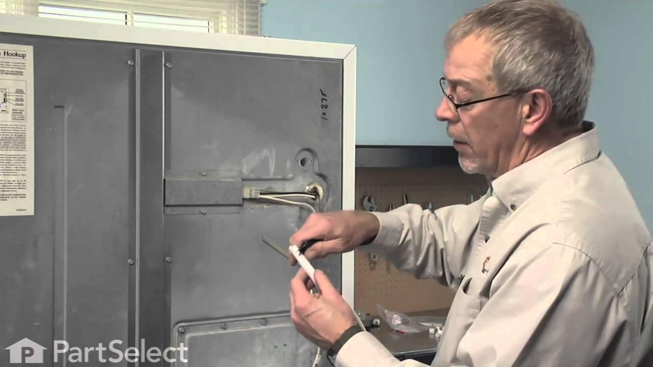 Refrigerator Repair Replacing The Water Fill Tube Kit