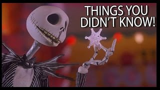7 Things You (Probably) Didn't Know About The Nightmare Before Christmas!