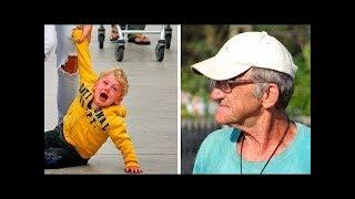 This Woman Laughs at How Grandpa Handles Spoiled Brat