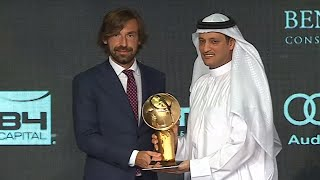 Globe Soccer Awards: premio alla carriera ad Andrea Pirlo