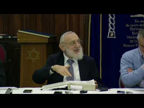 Cours du Grand Rabbin de Paris Michel Gugenheim du 13 janvier 2013