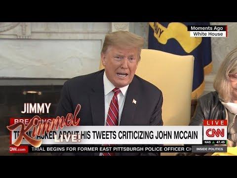 Trump Exaggerates Wealth & Attacks McCain Again