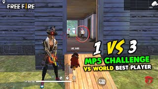 MP5 CHALLENGE VS WORLD BEST PLAYER MUST WATCH GAMEPLAY - GARENA FREE FIRE
