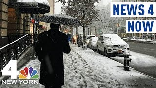 NYC Sees First Snow of the Season   News 4 Now