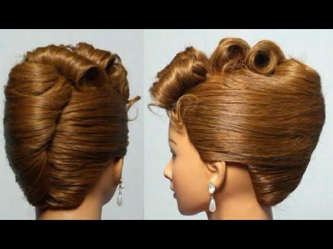 Прическа для средних волос: ракушка