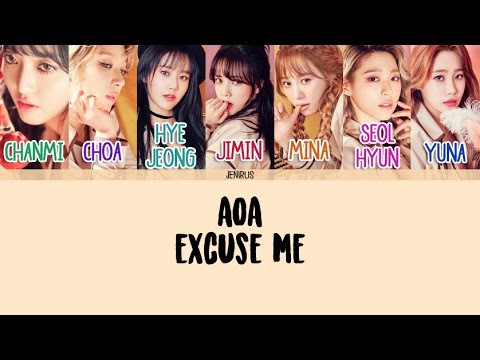 AOA - Excuse Me [Han/Rom/Eng] Picture + Color Coded Lyrics HD