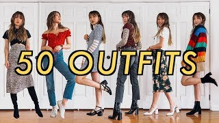 50 OUTFITS for when you have nothing to wear - YouTube