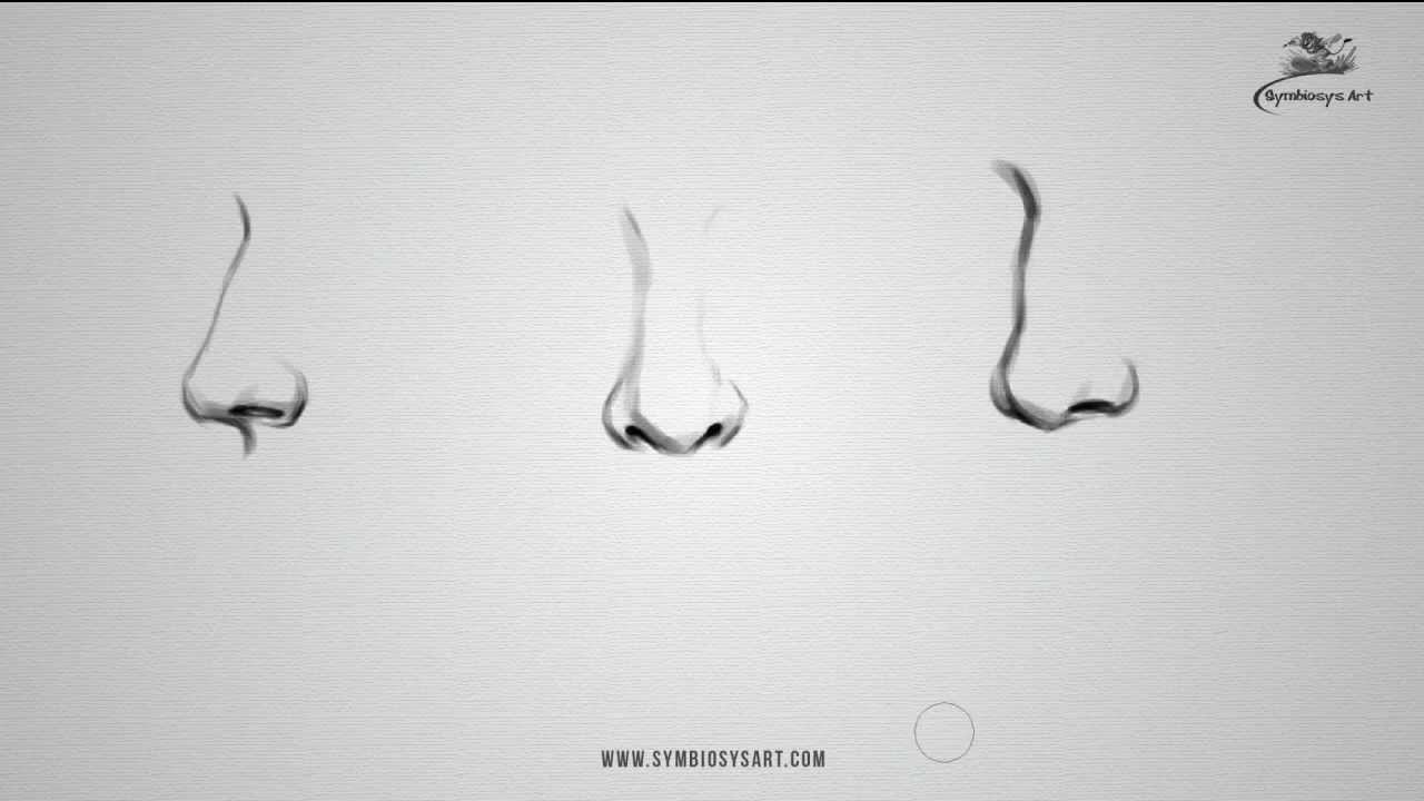 How to draw Realistic Nose - YouTube