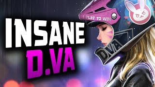 Pro D.va Gameplay - Space! 53 ELIMS! [ OVERWATCH SEASON 15 TOP 500 ]