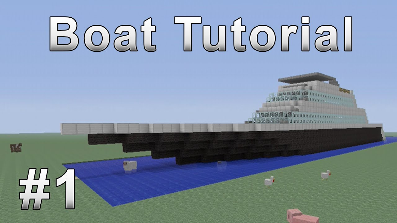 how to build a fishing boat in minecraft xbox 360