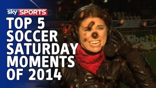 Top 5 | Soccer Saturday Moments 2014 featuring prank calls, technical difficulties and rain storms!