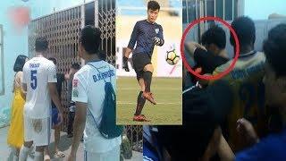 Thủ môn Bùi Tiến Dũng U23 bất ngờ bị cổ động viên Quảng Nam vào tận phòng thay đồ 'tấn công'?