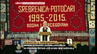 Kolinda Grabar-Kitarović na obilježavanju godišnjice genocida u Srebrenici