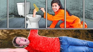WE ESCAPE PRISON via Underground Tunnel! Vy & Hacker Girl PZ4 are Trapped by Project Zorgo